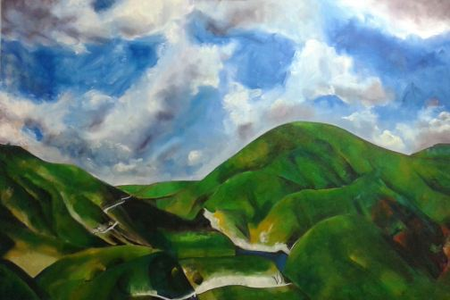 Ventura Highway; 5'x6'; oil on canvas